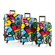 Heys Britto Butterfly Love Multi Color Polycarbonate 3 Pc Set (16049-6907-S3)