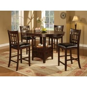 Monarch Specialties Black Seat Dining Chair, 41 inch H, Cappucino, 2 Chairs (I 1156) by