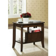 Monarch Specialties Solid-Top Accent Table, Walnut (I 1579)