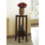 """Monarch Specialties 28""""H solid-Top Accent Table, Walnut (I 1592)"""
