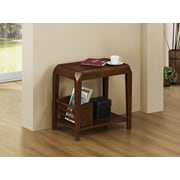 Monarch Specialties Wood/Veneer Accent Table, Brown, Each (I 1947)