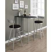 "Monarch Specialties Metal Swivel Barstool, Silver, 43""H, silver (I 2332)"