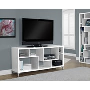 "Monarch Specialties 60""L TV Stand, White (I 2577)"