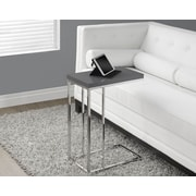 Monarch Specialties Hollow-Core Chrome Metal Accent Table, Glossy Grey (I 3030)