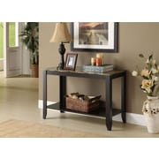 Monarch Specialties Console Table, Cappucino, Marble-Look Top (I 7983s)