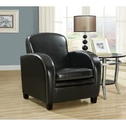 Monarch Specialties Leather-Look Accent Chair, Black (I 8038)