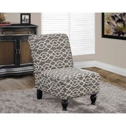 Monarch Specialties Bell Pattern Traditional Fabric Accent Chair, Brown (I 8127)