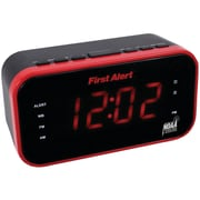First Alert JENSFA150 AM/FM Weather Band Clock Radio with Weather Alert