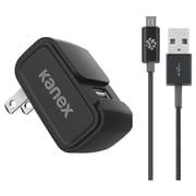Kanex 4ft Black 2.4amp 1-Port Wall Charger with Micro USB Cable (KAN2BKKTMU1)
