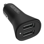 KANEX 3.4amp 2-Port USB V2 Car Charger, Black (KAN2PT34V2BK)