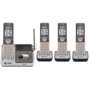 ATT Dect 4-Handset 6.0 Phone System with Talking Caller ID and Digital Answering System, Cordless