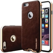 CASEOLOGY Envoy Series Leather-Bound Case for iPhone  6 Plus/6S Plus, Cherry Oak (CGYI6LBMPLTHCH)