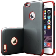 CASEOLOGY Sleek Armor Case for iPhone 6 Plus and 6 S Plus, Black/Red (CGYI6LMETBKRD)