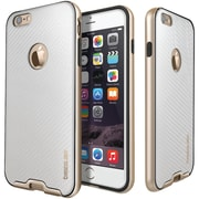 CASEOLOGY Envoy Series Leather-Bound Case for iPhone 6/6S, Carbon Fiber White (CGYIP6BMPCBFWH)