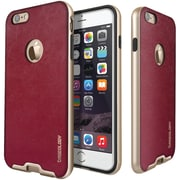 CASEOLOGY Envoy Series Leather-Bound Case for iPhone 6/6S, Burgundy Red (CGYIP6BMPLTHRS)