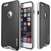 CASEOLOGY Envoy Series Leather-Bound Case for iPhone 6/6S, Metallic Mesh Silver (CGYIP6BMPMSHSV)