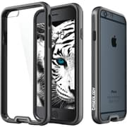 Caseology Dual-Bumper Clear Back Case for Use with iPhone  6/6S, Metallic Black (CGYIP6FUBBK)