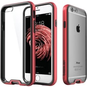 CASEOLOGY Dual-Bumper Clear Back Case for iPhone  6/6S, Red (CGYIP6FUBRD)