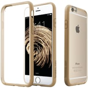 CASEOLOGY Clear Back Bumper Case for iPhone 6/6S, Gold (CGYIP6FUSGD)