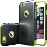 CASEOLOGY Sleek Armor Case for iPhone 6/6S, Black/Lime Green (CGYIP6METBKLM)