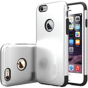 Caseology Sleek Armor Case for Use with iPhone  6/6S, Silver (CGYIP6METSV)