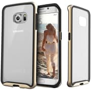 Caseology Dual-Bumper Clear Back Case for Use with Samsung  Galaxy S6 Edge, Gold (CGYG6EFUBGD)