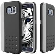 CASEOLOGY Sleek Armor Threshold Series Case for Samsung Galaxy S 6, Gray/Black (CGYGS6EDGGYBK)