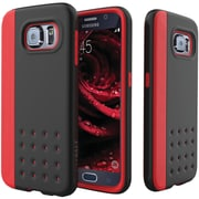 CASEOLOGY Sleek Armor Threshold Series Case for Samsung  Galaxy S  6, Black/Red (CGYGS6EDGRDBK)