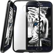 Caseology Dual-Bumper Clear Back Case for Use with Samsung  Galaxy S6, Metallic Black (CGYGS6FUBBK)