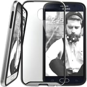 Caseology Dual-Bumper Clear Back Case for Use with Samsung  Galaxy S6, Silver (CGYGS6FUBSV)