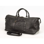 Claire Chase All American 20'' Leather Carry-On Duffel; Black