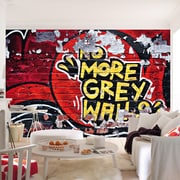 Brewster Home Fashions Ideal Decor No More Grey Wall Mural