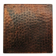 Premier Copper Products 6'' x 6'' Hammered Copper Tile in Oil Rubbed Bronze