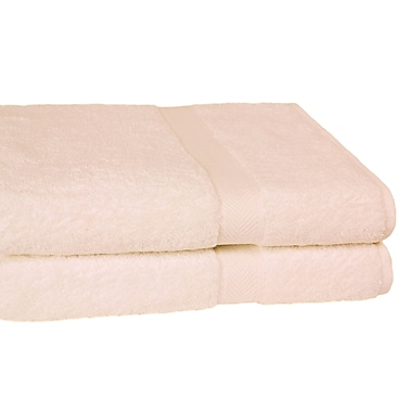 Calcot Ltd. All American Cotton Line Bath Towel (Set of 2); Ivory