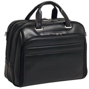 McKlein USA R Series Springfield Leather Laptop Briefcase; Black