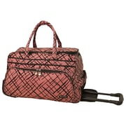 Jenni Chan Brush Strokes 20'' 2 Wheeled Carry-On Duffel; Red