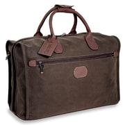 Jack Georges Nevada 18'' Leather Carry-On Duffel; Brown
