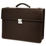Jack Georges Prestige Double Gusset Leather Briefcase; Brown