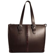 Jack Georges Prestige Madison Avenue Tote Bag; Brown