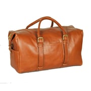 Aston Leather 20'' Leather Weekender Carry-On Duffel; Tan