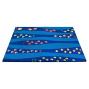 Kid Carpet Classroom Blue School of Fish Area Rug; 4' x 6'