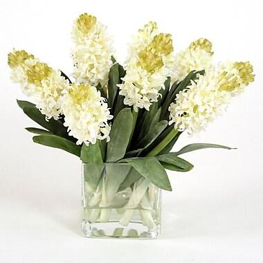 Distinctive Designs Silk Hyacinths Square Vase