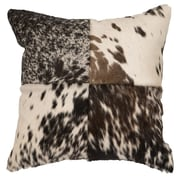 Wooded River Accessory Pillows Speckled Hair on Hide w/ Stitched Front Throw Pillow
