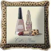 Fine Art Tapestries Cats Meow Throw Pillow