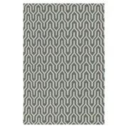 Jill Rosenwald Rugs Fallon Hand-Woven Khaki Green/White Area Rug; 3'6'' x 5'6''