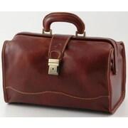 Alberto Bellucci Verona Giotto 14.75'' Leather Carry-On Duffel; Brown