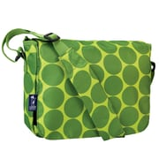 Wildkin Ashley Big Dot Kickstart Messenger Bag; Green