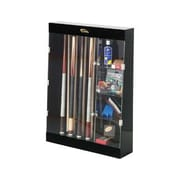 Cuestix Display Cases Ten Cue Wall Mount Display Case with Accessory Shelves