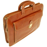 Floto Imports Milano Sleeve Leather Laptop Briefcase; Brown