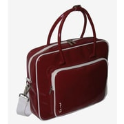 Ice Red Shine 2 Glossy Laptop Briefcase; Red